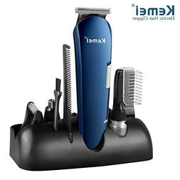 Kemei 5 in 1 Rechargeable Hair Trimmer Titanium Hair Clipper