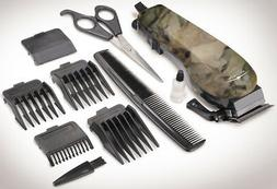10 Piece Camouflage Hair Clipper Set With Adjustable Guard C