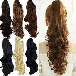 """18""""SEXY Claw Ponytail Handy Jaw Pony Tail Clip in Hair Exten"""