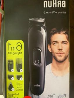 Braun 6-in-1 MGK3220, Beard, Face, Ear and Nose Trimmer & Ha