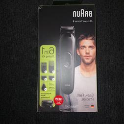 Braun 6-in-1 MGK3220 Trimmer & Hair Clipper Black NEW #8131
