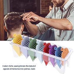 8 Sizes Hair Clipper Guide Comb Set Hair Guide Colorful Clip