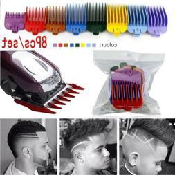 8Pcs Hair Clipper Limit Comb Guide Size Cutting Replacement