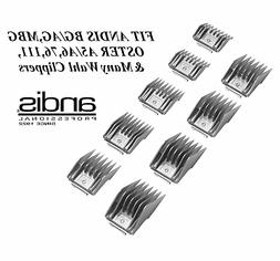 ANDIS 9 pc HAIR STYLIST ATTACHMENT Guide COMB SET*FitMost Os