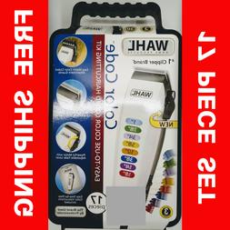 WAHL 9155-700 Color Code CLIPPER 17 Pieces Haircutting Kit F