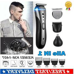 All in1 Hair Beard Nose Shaver Clipper Trimmer Comb Grooming
