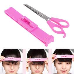 Bangs Cutting Tool Hair Trimmer Clipper Comb Guide Level Rul