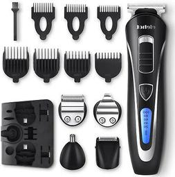ELEHOT Beard Trimmer Hair Clippers Shaver 5 in 1 Cordless Cu
