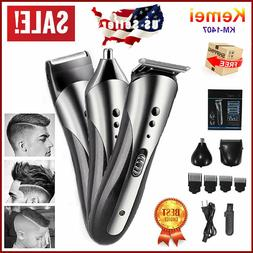 Best Kemei Mens 3in1 Pro Electric Hair Clippers Rechargeable