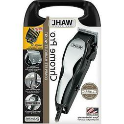 WAHL Chrome Pro Professional Kit CLIPPERS Men Barber Hair Cu