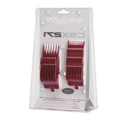 BaBylissPRO Clipper Comb Guard 8 PC Set for FXF811 RED
