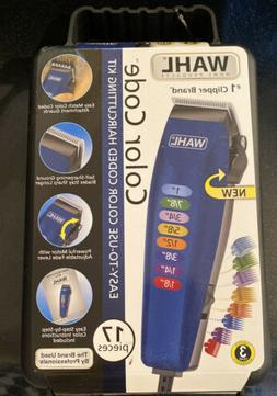 WAHL Color Code 17 Piece Complete Haircutting Kit Hair Clipp