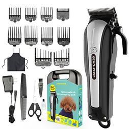 Beautural Professional Cordless Pet Grooming Clipper Kit, Lo