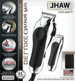 WAHL Deluxe Chrome Pro Complete Beard & Haircutting Clippers