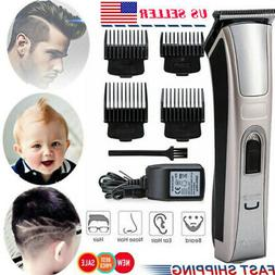 Rechargeable Men Electric Hair Clipper Trimmer Cordless Wire