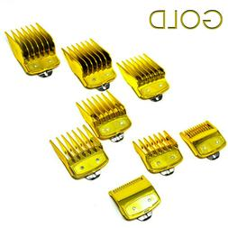 GOLD COMB SET GUARDS FOR WAHL HAIR CLIPPERS PREMIUM QUALITY