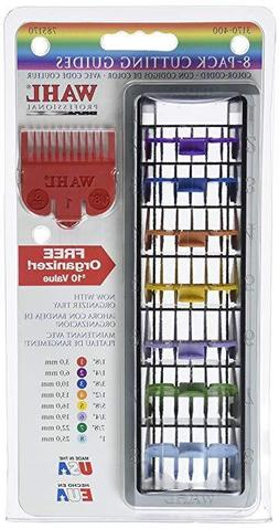 WAHL Hair Clipper 8 Pack Color Coded Cutting Guides & Tray 3