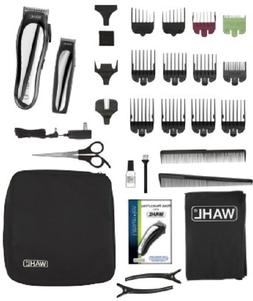 Hair Clipper Kit wireless Wahl Lithium Ion Cordless Scissors