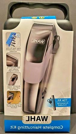 Wahl Hair Clippers 17pc Home Complete Hair Cutting Kit With