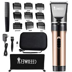 Hair Clippers Cordless Quiet Trimmers Rechargeable Body Remo