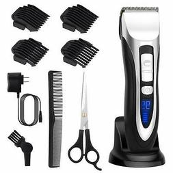 ELEHOT Hair Clippers for Men with 4 Guide Combs Cordless Rec