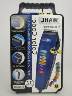 Hair Clippers New Wahl Electric Color Code 17pc. Set Home Ha