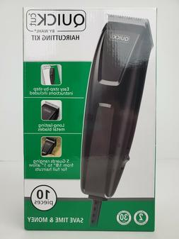 Hair Clippers New Wahl Electric Quick Cut 10pc Set Home Hair