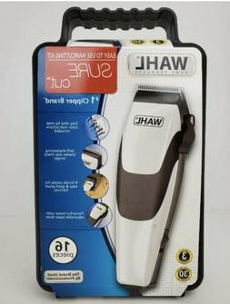 Hair Clippers New Wahl Electric Sure Cut Kit 16pc Set Home H