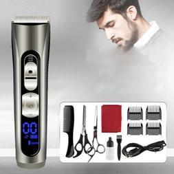Hair Clippers Set Cordless Rechargeable Electric for Men & B