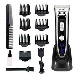 Professional Hair Clippers Set for Men, Aiskki Cordless Hair