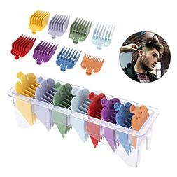 Hair Clippers, 8 Sizes Guide Comb Set Rainbow Color Clipper
