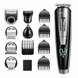 Hatteker 5 in 1 Men Grooming Kit Beard Trimmer Hair Clipper