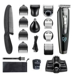 HATTEKER Men Hair Clippers Beard Trimmer Cordless Mustache N