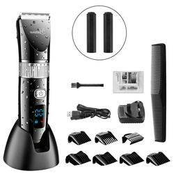 Hatteker Men's Rechargeable Hair Clipper Trimmer Shaver Elec