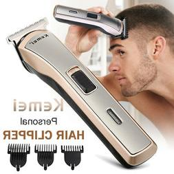 Kemei Electric Hair Clipper Cordless Rechargeable Shaver Tri