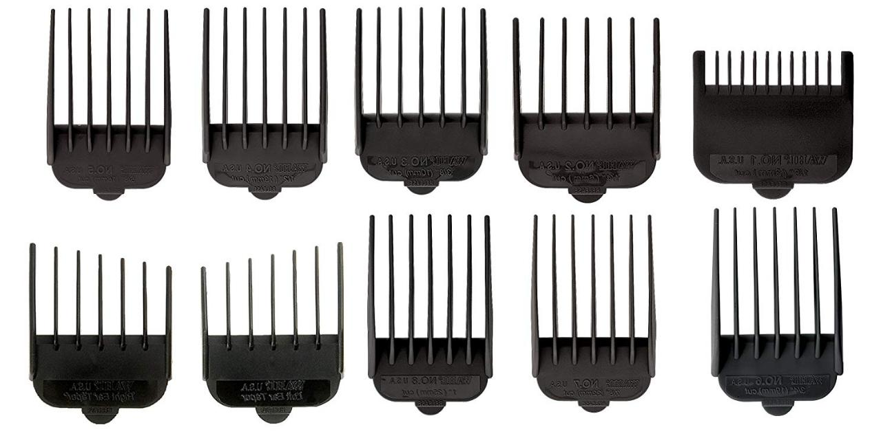 10Pcks Wahl Hair Attachments Kit Clipper Comb And