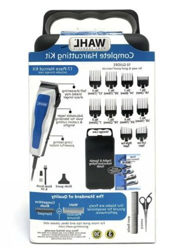 WAHL 17 Piece Accessories Complete Haircutting Kit Clippers Barber