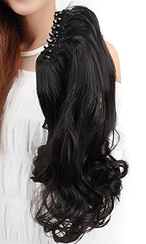 """18""""SEXY Ponytail Handy Jaw Pony Tail in Extensions Piece Long Silky for"""