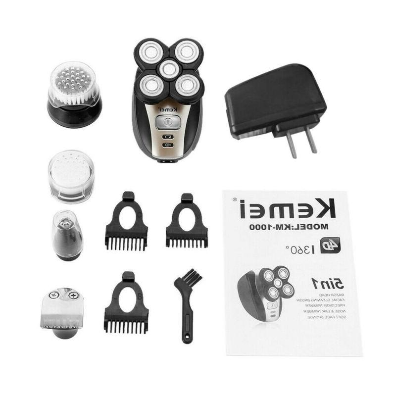 5 In 1 Rechargeable Bald Razor Hair Clipper Trimmer Shaving