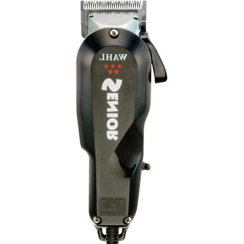 Wahl 5 Series Senior Premium Clipper, with Motor Stay Lightweight Ergonomically with Adjustable Blades Trimming Guide Attachments, Power Cord, Comb, Oil, Cleaning and Blade Included & 2 Stocking Caps