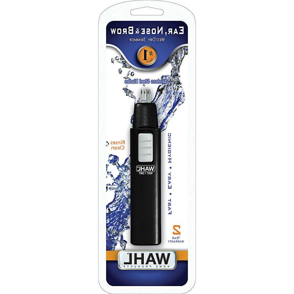 Wahl 5567-500 Ear, Nose and Brow Wet/dry Battery Trimmer, Bl