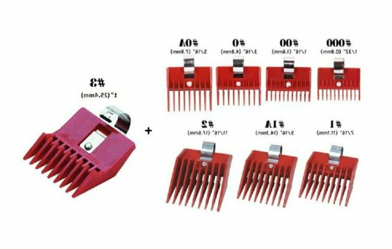 8Pc Speed O Guide Universal Clipper Comb Attachments 8 Diff