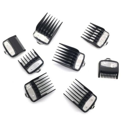 8Pcs Hair Clipper Limit Guards Attachment Size Replacement