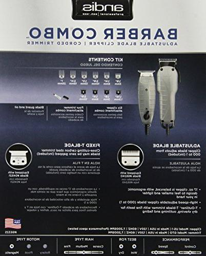 Andis Barber Combo Clipper/Trimmer
