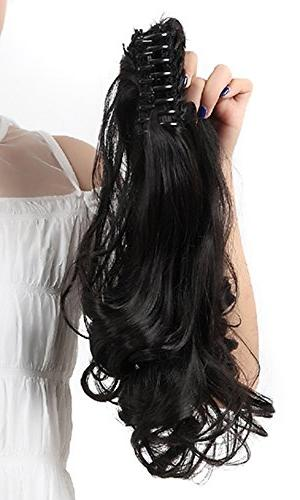 """18""""SEXY Claw Ponytail Jaw Pony Clip in Extensions One Piece Curly Soft Silky for"""