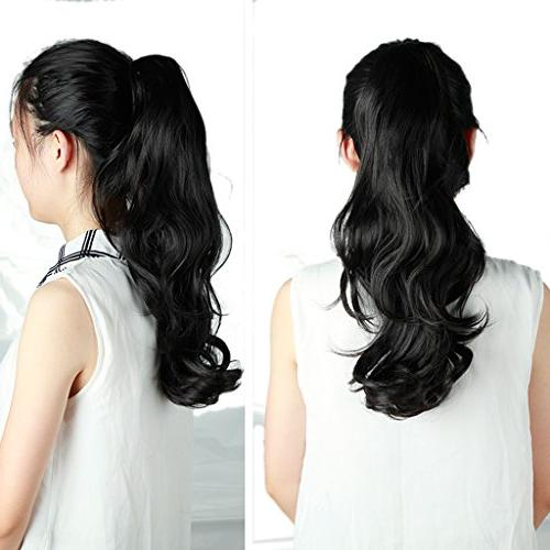 """18""""SEXY Claw Ponytail Jaw Pony Tail in Hair Extensions Piece Silky"""