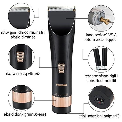 WARMLIFE Cord/Cordless Hair Electric Trimmers Men with Scissors Rotary Motor Cutting Haircut