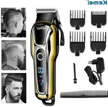 cordless rechargeable mens hair clipper 7 piece