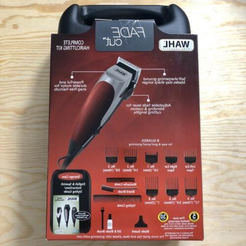 WAHL Fade Cut 16 Piece Kit Hair Trimmers Clippers FREE
