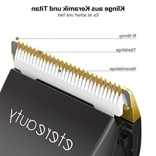 Hair ETEREAUTY Professional Hair Clippers Quiet Hair Trimmer Self-Sharpening Ceramic Display, Haircutting Men Baby